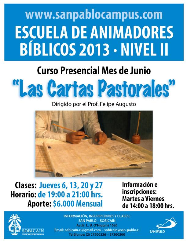 Curso Presencial Las Cartas Pastorales Junio 2013