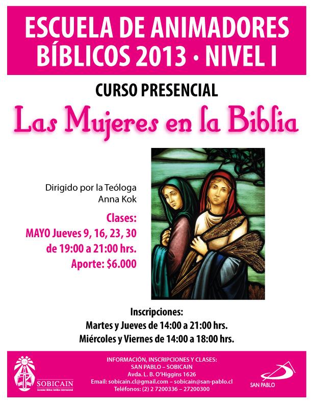 Curso Presencial LAS MUJERES EN LA BIBLIA