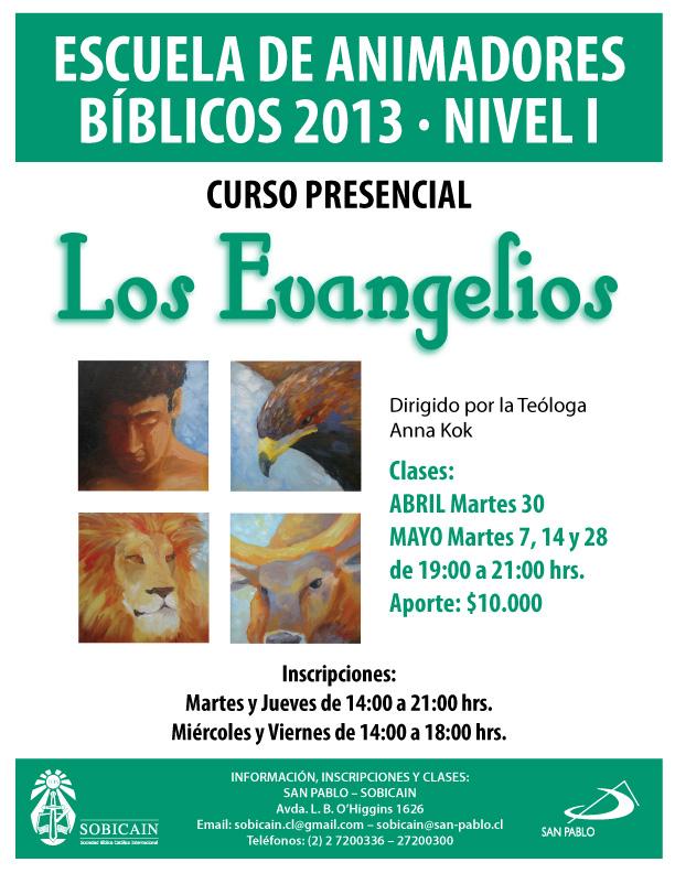 Afiche Curso Los Evangelios