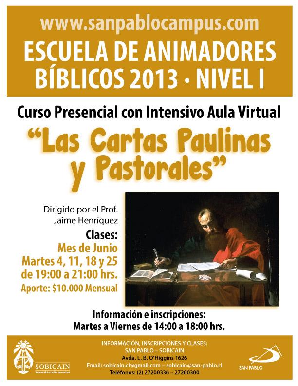 Curso Las Cartas Paulinas Junio 2013