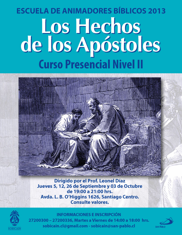 Curso Presencial Hechos de los Apóstoles Septiembre 2013