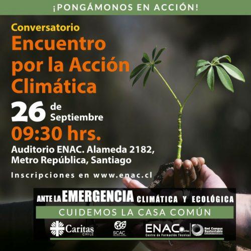 Conversatorio: Encuentro por la Acción Climática ¡Pongámonos en Acción!