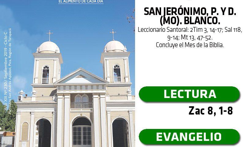 LUNES 30: San Jerónimo, p. y d. (MO). Blanco.
