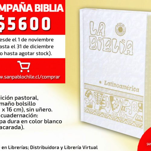 OFERTA: Biblia Latinoamérica chica nacarada