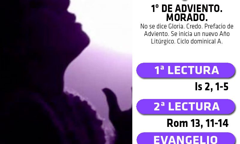 DOMINGO 1: 1º de Adviento. Morado.