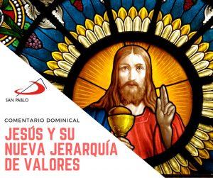 COMENTARIO DOMINICAL: Jesús y su nueva jerarquía de valores