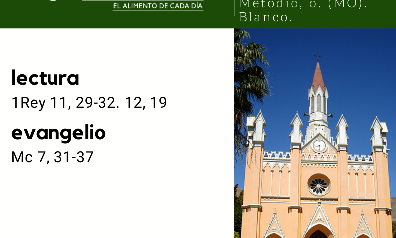 VIERNES 14: Santos Cirilo, mj., y Metodio, o. (MO). Blanco.