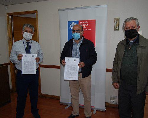 Obispado de Talca firmó convenio con Servicio de Salud del Maule