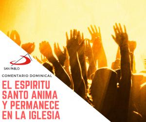 COMENTARIO DOMINICAL: El Espíritu Santo anima y permanece en la Iglesia