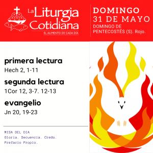 LItURGIA COTIDIANA SAN PABLO DOMINGO 31: PENTECOSTES