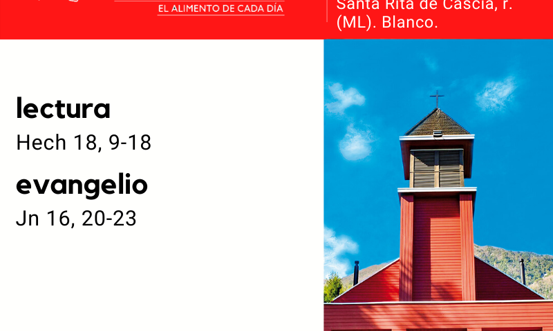 VIERNES 22: De la feria. Blanco. Santa Rita de Cascia, r. (ML). Blanco.