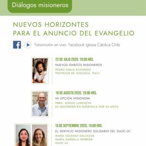 """Conversatorios online: """"Nuevos horizontes para el anuncio del Evangelio"""""""