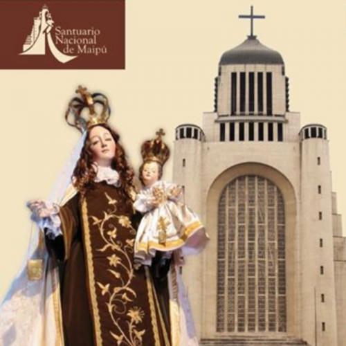 Celebración de la Virgen del Carmen en el Santuario de Maipú