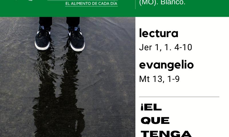 LITURGIA COTIDIANA MIÉRCOLES 22: Santa María Magdalena (MO). Blanco.