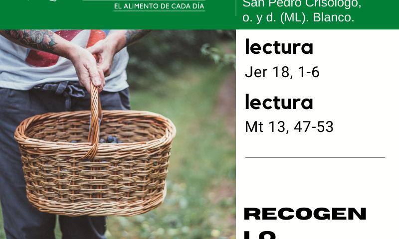 LITURGIA COTIDIANA JUEVES 30: De la feria. Verde. San Pedro Crisólogo, o. y d. (ML). Blanco.