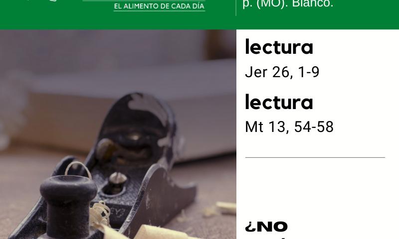 LITURGIA COTIDIANA VIERNES 31: San Ignacio de Loyola, p. (MO). Blanco.