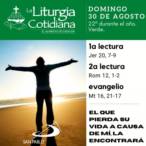 LITURGIA COTIDIANA DOMINGO 30: 22º durante el año. Verde.
