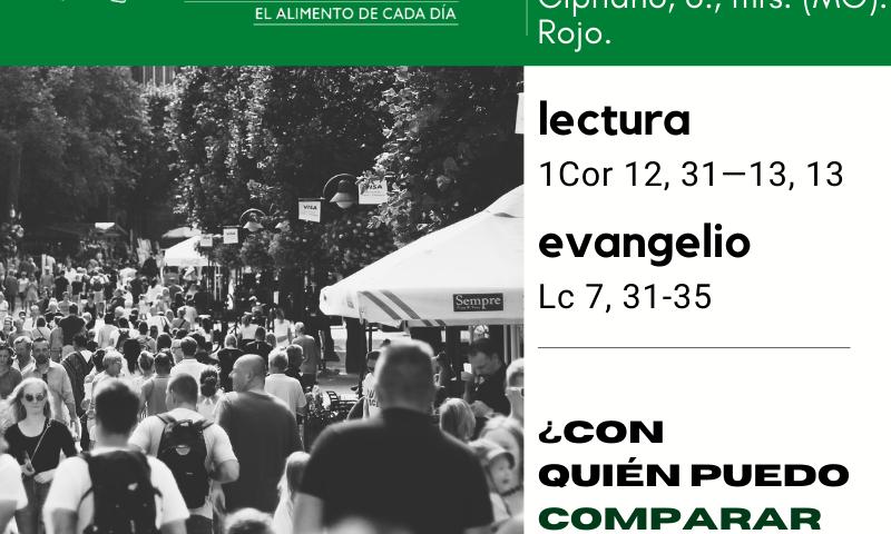 LITURGIA COTIDIANA MIÉRCOLES 16: Santos Cornelio, pa., y Cipriano, o., mrs. (MO). Rojo.