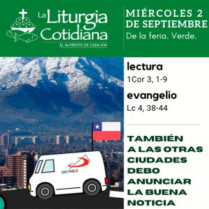 LITURGIA COTIDIANA MIÉRCOLES 2: De la feria. Verde.