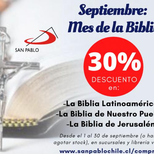 PUBLICIDAD Mes de la Biblia SAN PABLO Chile