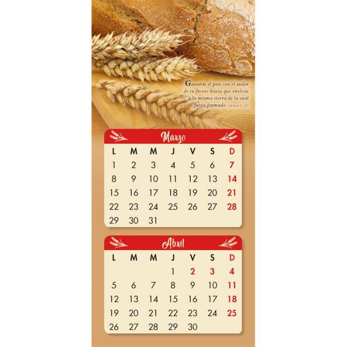 Calendario pan de la palbra