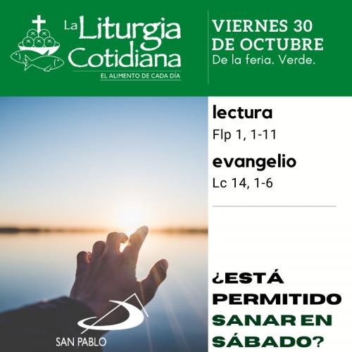 LITURGIA COTIDIANA VIERNES 30: De la feria. Verde.