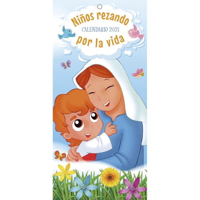 calendario niños rezando por la vida