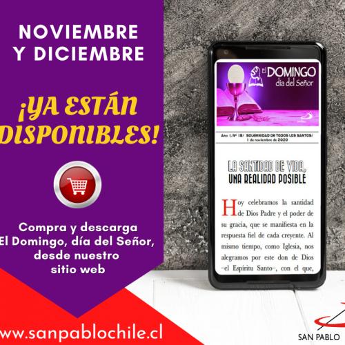 Acompaña las misas dominicales de Noviembre y Diciembre con el DOMINGO DIGITAL