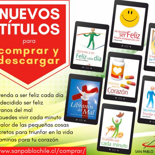 Nuevos libros digitales se encuentran disponibles en nuestro sitio web