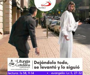 LITURGIA COTIDIANA 20 DE FEBRERO: De la feria. SÁBADO DESPUÉS DE CENIZA. Morado.