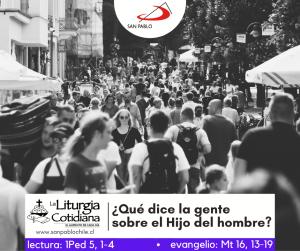 LITURGIA COTIDIANA 21 DE FEBRERO: LA CÁTEDRA DE SAN PEDRO, ap. (F). Rojo.