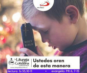LITURGIA COTIDIANA 23 DE FEBRERO: De la feria. Morado. San Policarpo, o. y mr. (MO). Blanco o Rojo.