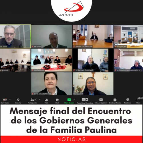 Mensaje final del 38º Encuentro de los Gobiernos Generales de la Familia Paulina