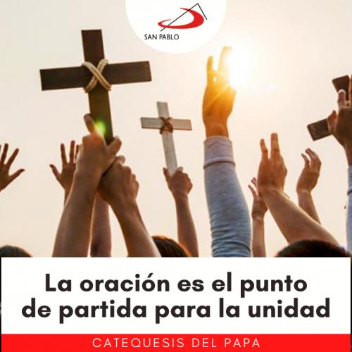 CATEQUESIS DEL PAPA: La oración es el primer paso para alcanzar la unidad