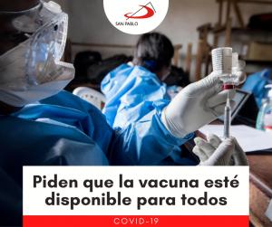 Piden que la vacuna esté disponible para todos