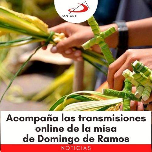 Acompaña las transmisiones online de la misa de Domingo de Ramos