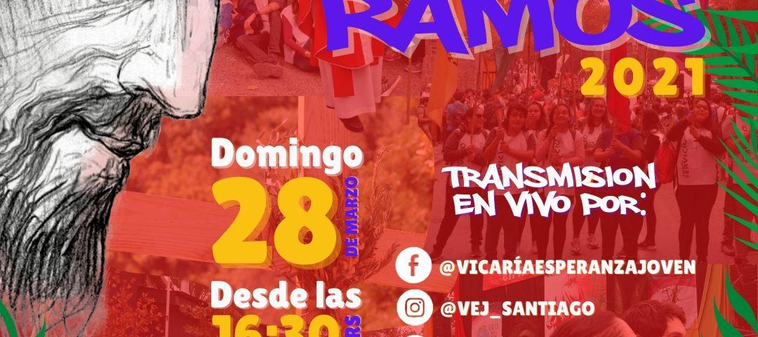 Vicaría de la Esperanza Joven invita a celebrar en forma virtual el Domingo de Ramos