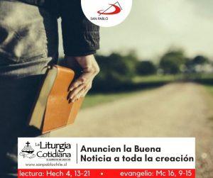 LITURGIA COTIDIANA 10 DE ABRIL: SÁBADO DE LA OCTAVA DE PASCUA. Blanco.