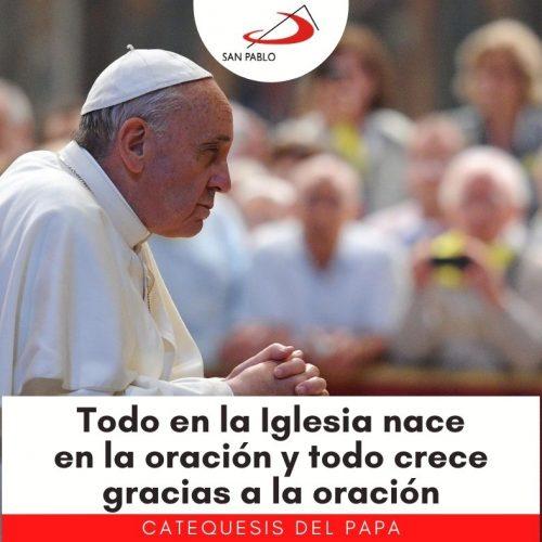 """CATEQUESIS DEL PAPA: """"Todo en la Iglesia nace en la oración y todo crece gracias a la oración"""""""