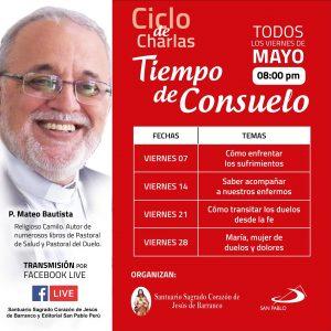 """Ciclo de charlas """"Tiempo de consuelo"""""""