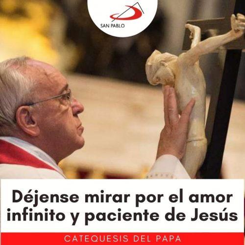 """CATEQUESIS DEL PAPA: """"Déjense mirar por el amor infinito y paciente de Jesús"""""""