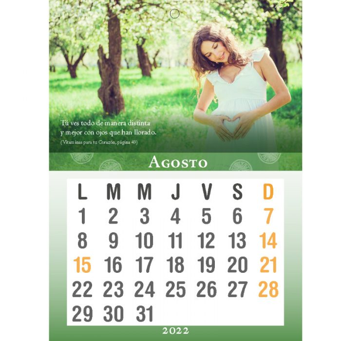 Calendario Vitaminas para tu Corazón 2022