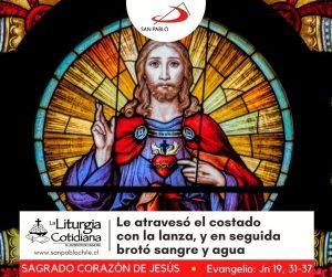 LITURGIA COTIDIANA 11 DE JUNIO: SAGRADO CORAZÓN DE JESÚS (S). Blanco.