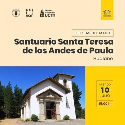 """Santuario de Teresa de Los Andes será protagonista de un nuevo episodio de """"Iglesias del Maule"""""""