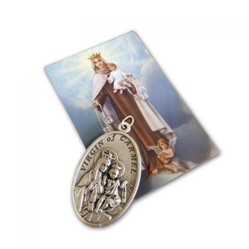 Medallón Escapulario Alpaca + Estampa