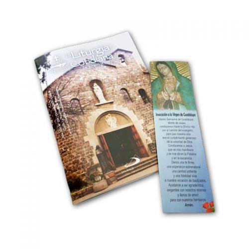 Pack Liturgia Cotidiana Octubre + 25 Tarjetas de la Virgen de Guadalupe