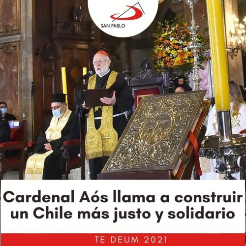Te Deum: Cardenal Aós llama a construir un Chile más justo y solidario