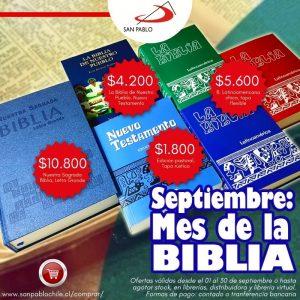 Ofertas SAN PABLO para el Mes de la Biblia