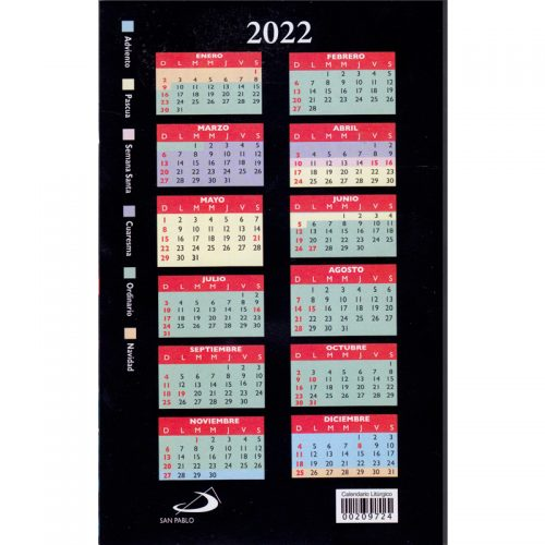Calendario Litúrgico 2022