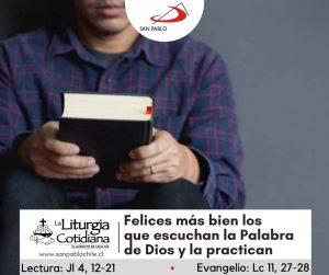 LITURGIA COTIDIANA 9 DE OCTUBRE: De la feria. Verde. San Dionisio, o. y comp. mrs. (ML). Rojo. San Juan Leonardi, p. (ML). Blanco. Santa María en Sábado (ML). Blanco.